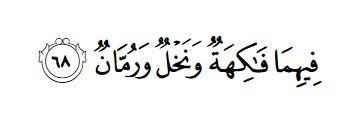 Surah Rahmaan 55-68